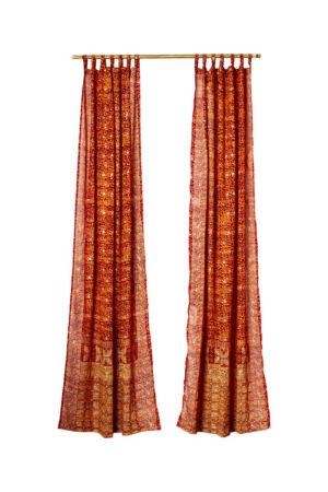 Sari Curtain - Copper - On White