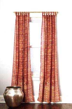 Sari Curtain - Copper - Open