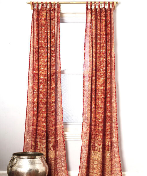 Sari Curtain - Copper - Open