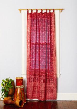 Sari Curtain - Crimson - Closeup