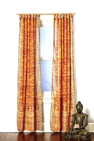 Sari Curtain - Gold - Open