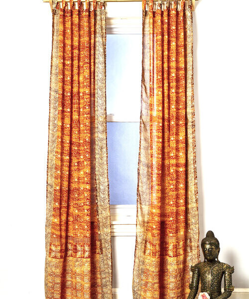 Sari Curtain - Gold - Open