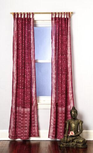 Sari Curtain - Magenta - Open