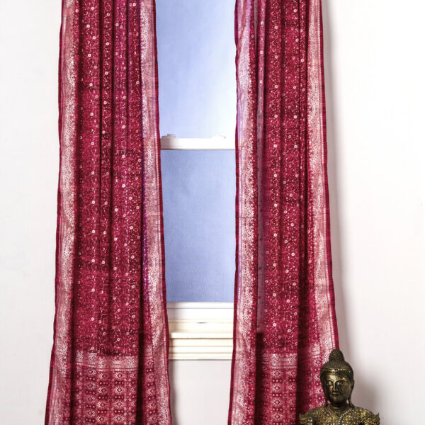 Sari Curtain - Magenta - Open