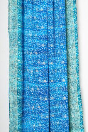 Sari Curtain - Turquoise/Teal - Closed